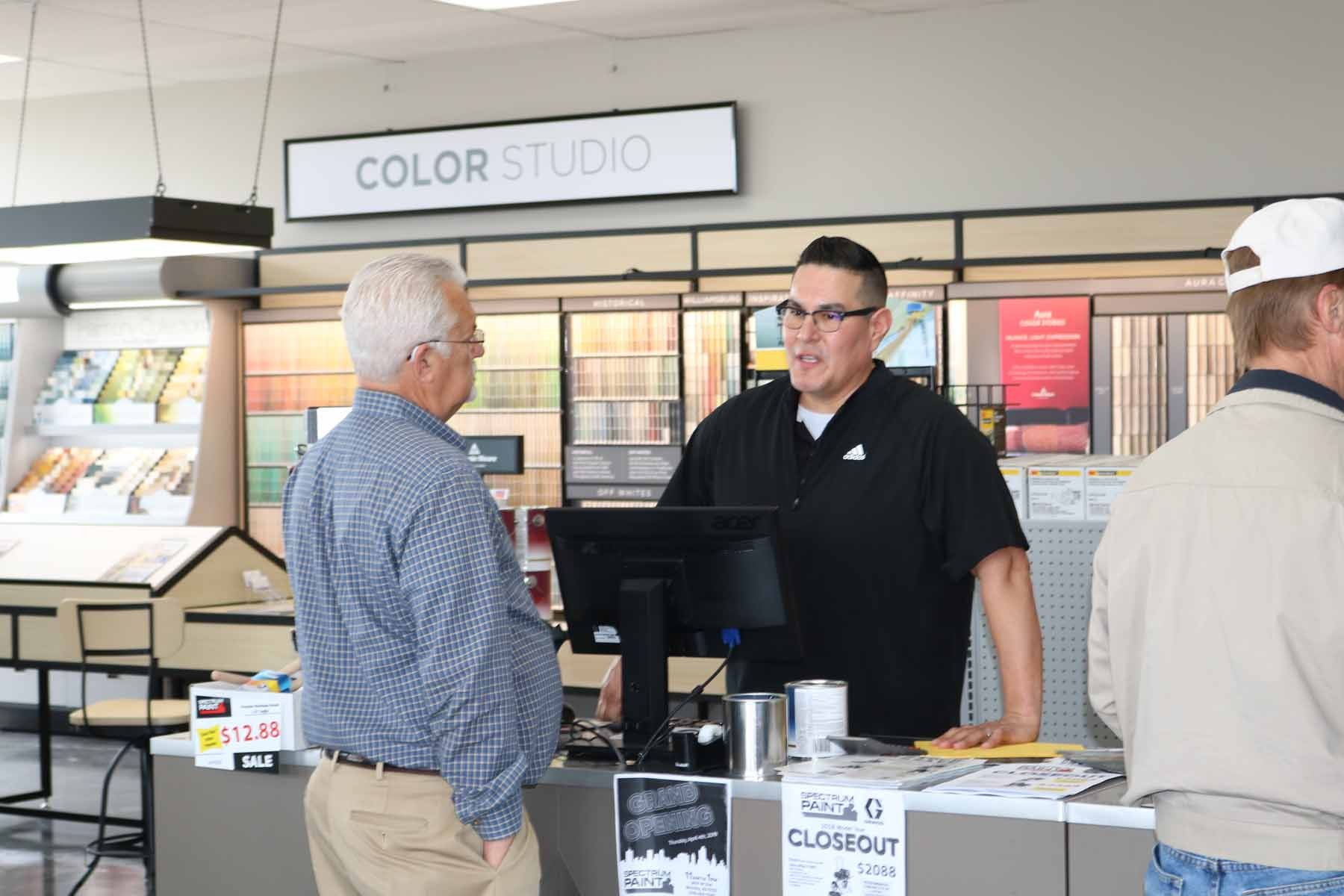 Counter Sales Paint Store Employee