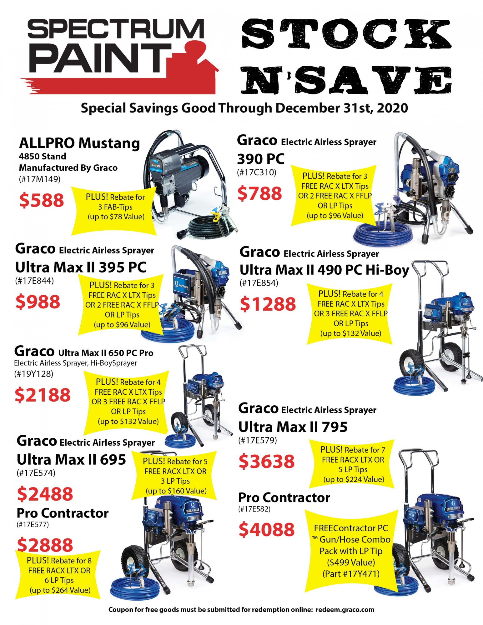 Stock N' Save December Equipment 2020
